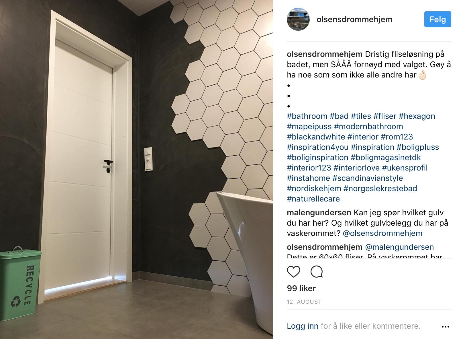 Olsensdrommehjem, Instagram