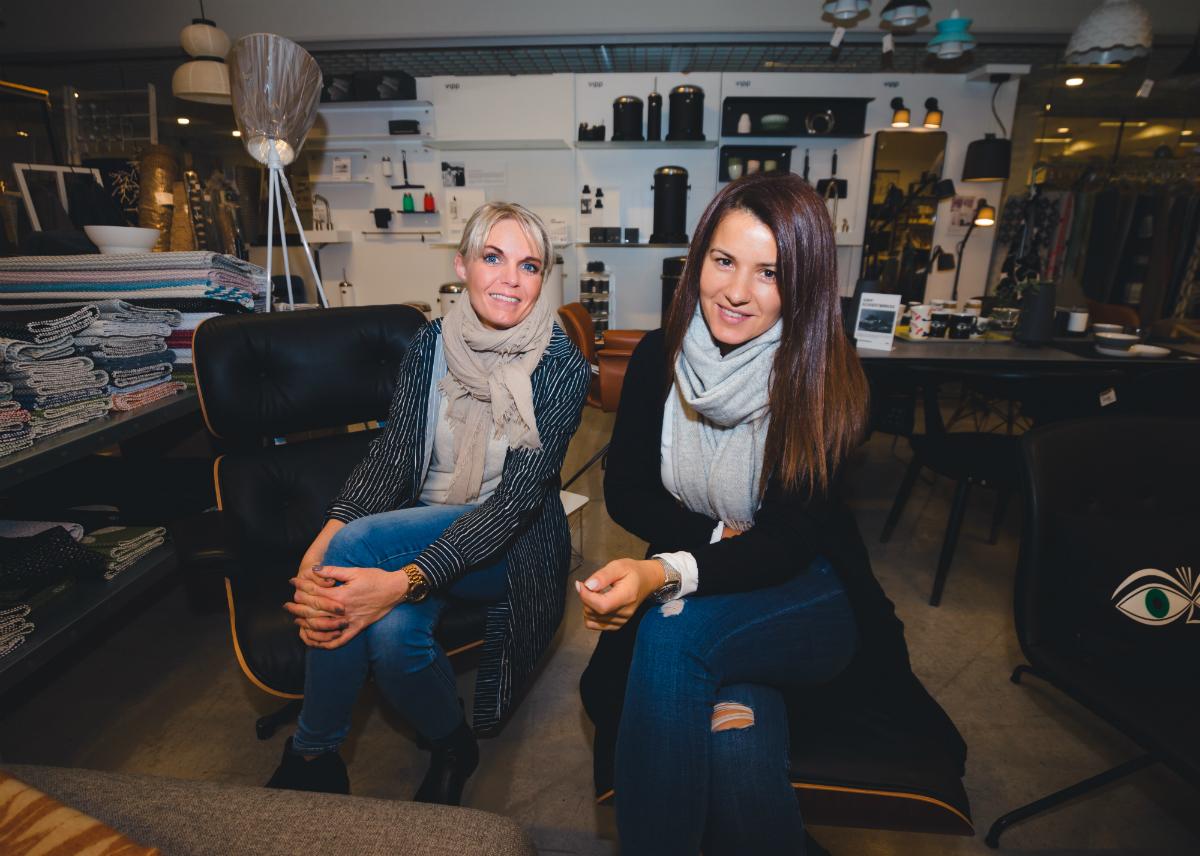 Kristen Nissen Dragland og Katarina Tasic på BaZaren