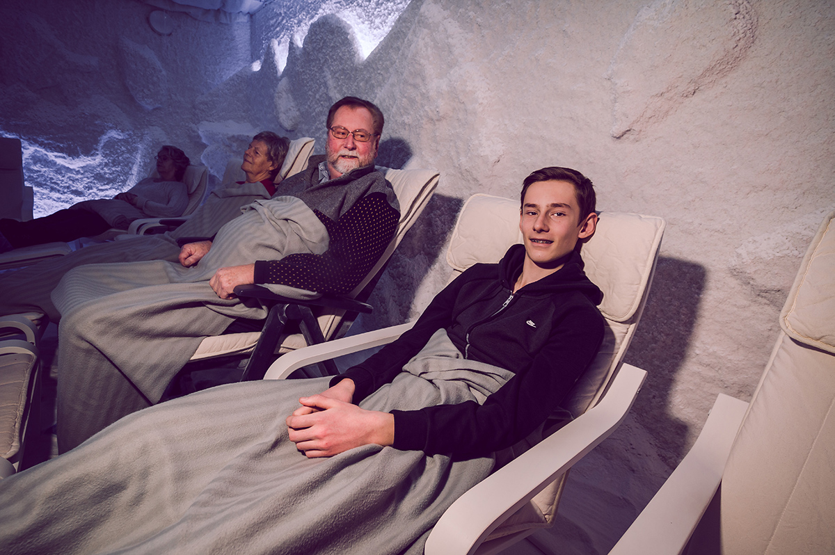 Leif Rinde og Daniel Moe i saltgruva
